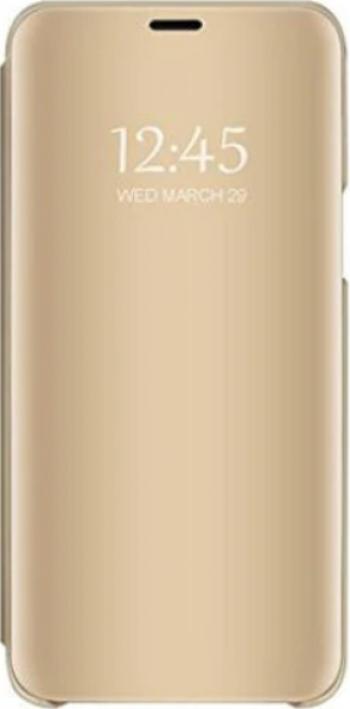 Husa Tip Carte Mirror Compatibila Cu Samsung Galaxy A12 Gold