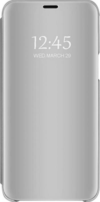 Husa Tip Carte Mirror Compatibila Cu Samsung Galaxy A12 Silver