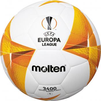 Minge fotbal Molten F5U3400-G0 model UEFA Europa League 2021 hybrid constructions marime 5