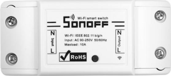 Releu inteligent smart Home wireless Wi Fi SonOff Basic R2 Kit Smart Home si senzori