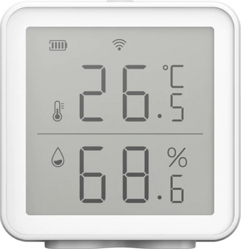 Senzor de temperatura si umiditate WiFi compatibil Tuya Alexa si Google Assistant