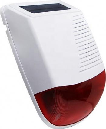 Sirena de exterior stroboscopica solara compatibila cu Alarma WiFi Tuya Smartlife