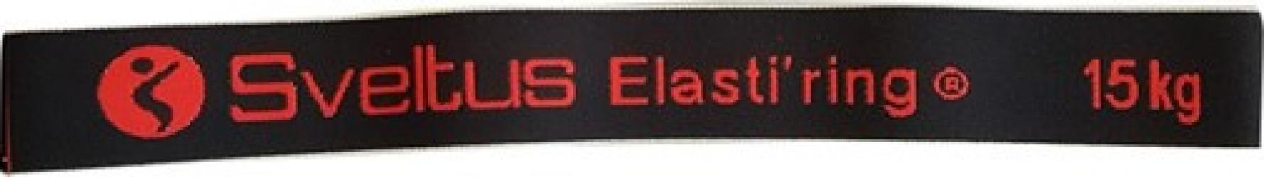 Banda elastica circulara 15kg neagra - Sveltus Accesorii fitness