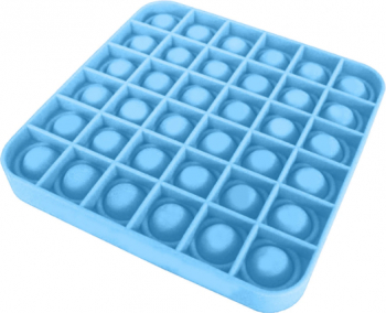 Jucarie antistres din silicon Pop it now forma patrat albastru 12.5 cm tqs
