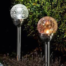 Set de 2 lumini de gradina solare LED I-Glow Corpuri de iluminat