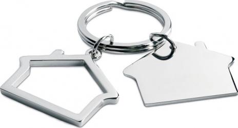 Breloc metalic 2 case Dalimag 6x3 cm argintiu
