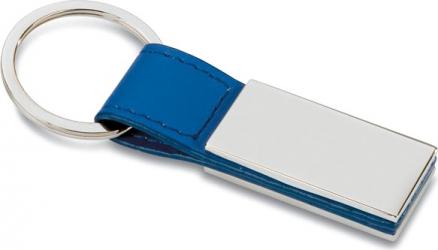 Breloc metalic piele Dalimag 6x2 cm albastru