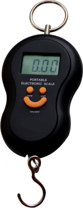 Cantar Electronic de Mana Pescuit cu Carlig 50Kg Ecran LCD Dalimag negru