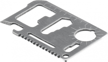Cutit multifunctional de buzunar cu 11 functii tip card din otel inoxidabil Dalimag husa Wallet Ninja