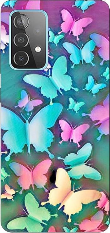 Husa Silicon Soft Upzz Print Compatibila Cu Samsung Galaxy A52 4g / A52 5g Model Colorfull Butterflies