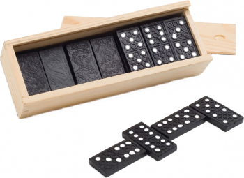 Joc Domino in cutie de lemn Dalimag 146 x 50 x 30 mm