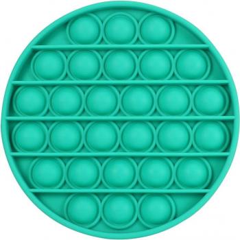 Jucarie senzoriala antistres Pop it now Push Bubble verde 12.5 x 12.5 x 1.5 cm Kendama si jucarii antistres