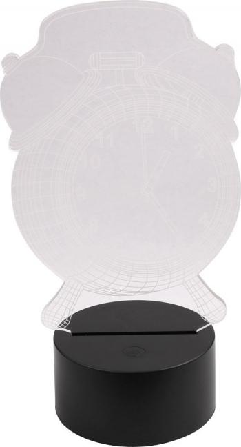 Lampa 3d acrilica cu 7 culori telecomanda si ceas digital cu alarma