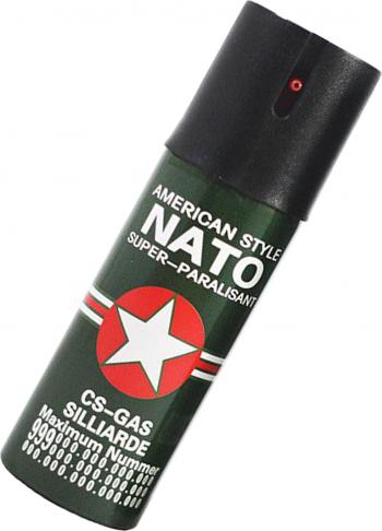 Spray iritant lacrimogen paralizant autoaparare cu piper NATO 55 ml in cutie