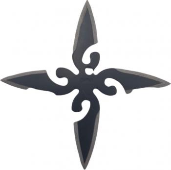 Steluta ninja stea samurai pentru aruncat la tinta 4 colturi in husa Dalimag negre 6 cm