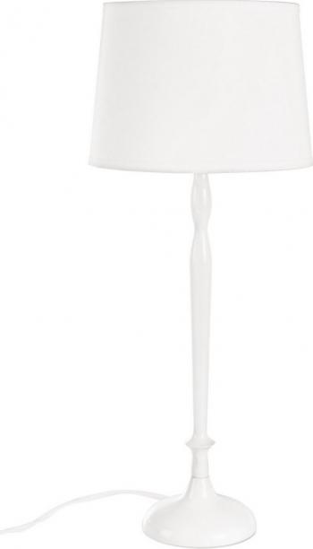 Veioza metal abajur alb 20 cm x 20 cm x 48.5 h Corpuri de iluminat