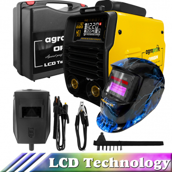 Aparat sudura profesional AgroPro Origin 220 LCD inverter 220A MMATIGWIG VRD Tehnologie IGBT masca cristale lichide Thunder cutie Aparate de sudura