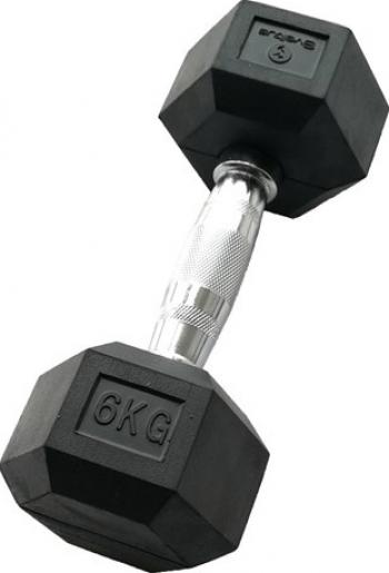 Gantera hexagonala 6kg - Dumbbell Accesorii fitness