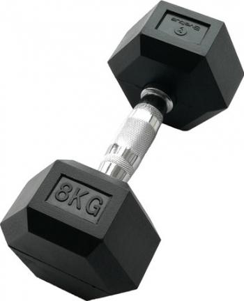 Gantera hexagonala 8kg - Dumbbell Accesorii fitness