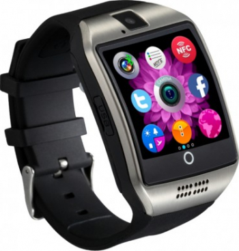 Smartwatch Techstar and reg DZ09 1.56inch LCD Compatibil SIM MicroSD Camera Foto Apelare SMS Pedometru Monit Smartwatch