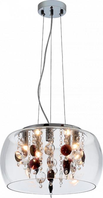 Candelabru Rosy 4x40W G9 crom + sticla transparenta Elmark 955ROSY1P Corpuri de iluminat