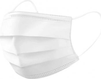 Cutie 50 masti faciale de unica folosinta 3 straturi Alb Masti chirurgicale si reutilizabile