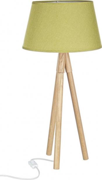 Lampadar lemn natur cu abajur verde Wallas and Oslash 33 cm x 69 h Corpuri de iluminat