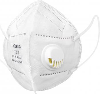 Set 5 Masti cu 5 straturi MEZORISON standard KN95/N95/FFP2 protectie respiratorie cu supapa valva pentru expiratie protectie 98 Masti chirurgicale si reutilizabile