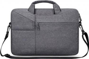 Geanta laptop 14 inch Tech-Protect Pocket Bag Dark Grey Genti Laptop