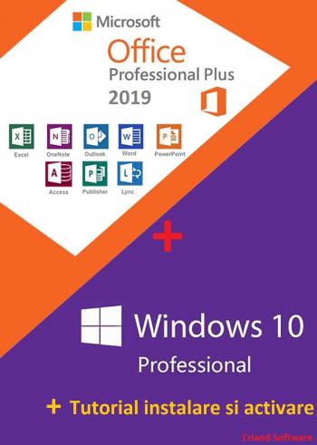 Microsoft Windows 10 Pro Retail+ Microsoft Office 2019 Pro Plus + Tutorial AsmartShop