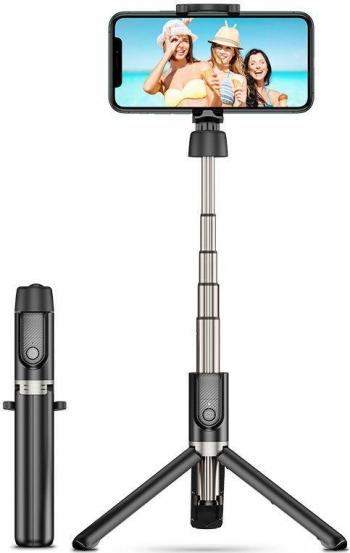 Selfie stick Wireless cu trepied si Bluetooth ESR Negru Gimbal, Selfie Stick si lentile telefon