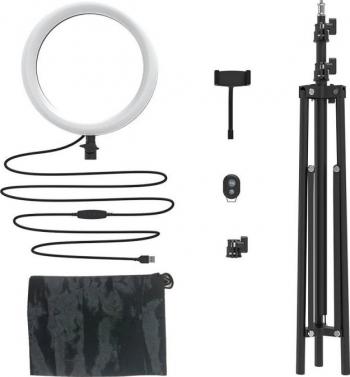 Suport pentru telefoane BlitzWolf BW-SL2 Flash LED control telecomanda lumina reglabila reglabil Negru Gimbal, Selfie Stick si lentile telefon