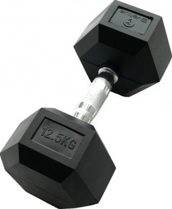 Gantera hexagonala 12.5kg - Dumbbell Accesorii fitness