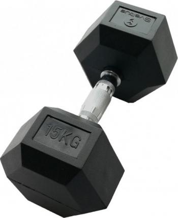 Gantera hexagonala 15kg - Dumbbell Accesorii fitness