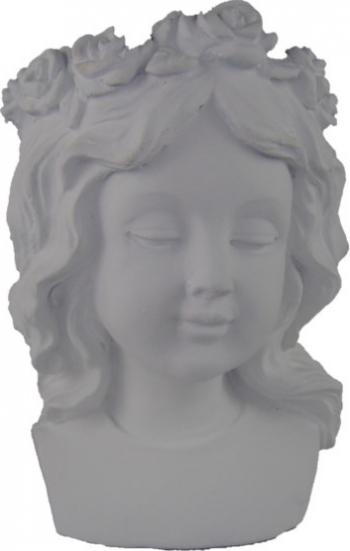 Statueta masca ghiveci chip fata culoare alb Vaze si Boluri decorative