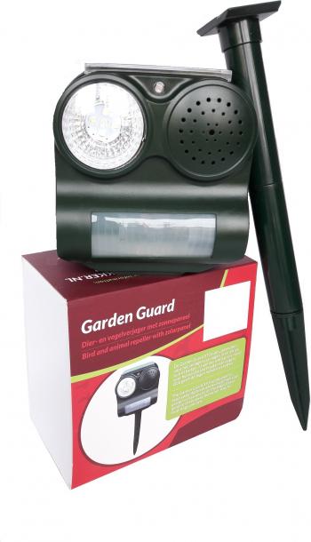 Aparat Electronic Sonic - Garden Guard VOTTON - Programabil Zi / Noapte - 3 Moduri Sunet - Led Blitz - Panou Solar Articole antidaunatori gradina
