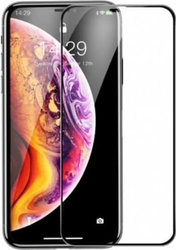 Folie iPhone 11 Pro  iPhone XS  iPhone X Sticla Securizata Mata 3D Rama Rigida Baseus Rigid-Edge Negru Folii Protectie