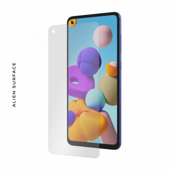 Folie Protectie Alien Surface Samsung Galaxy A21s Doar Ecran - Compatibila cu o husa Folii Protectie