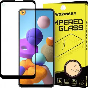Folie Samsung Galaxy A21s Sticla Securizata 9H Cu Rama Super Rezistenta Case Friendly Wozinsky Negru Folii Protectie