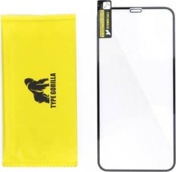 Gorilla Glass - Folie Flexibila Sticla Securizata iPhone 7 Plus Negru Anti-Explode Nano