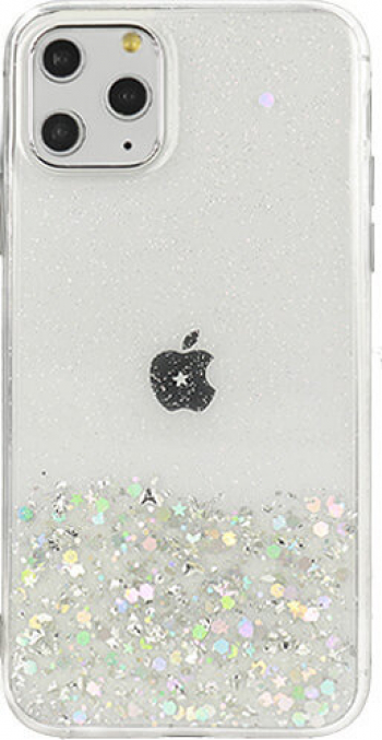 Husa iPhone 11 Pro Brilliant Clear Star Glitter Shining Transparent Huse Telefoane