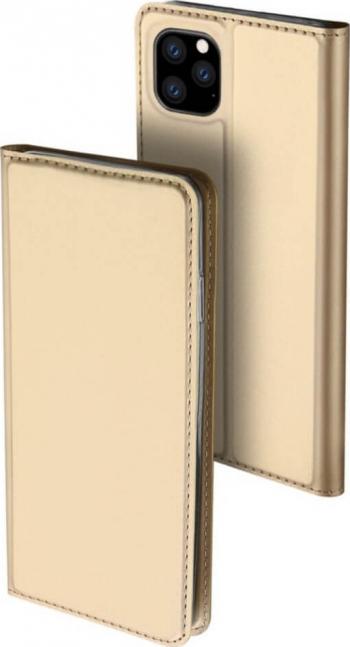 Husa iPhone 11 Pro Flip  Book Buzunar Card Piele DUX DUCIS Gold Huse Telefoane