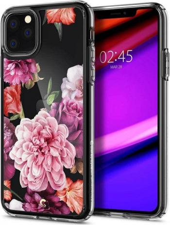 Husa iPhone 11 Pro Max Design Floral Spigen Ciel Roz Huse Telefoane