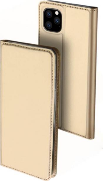 Husa iPhone 11 Pro Max Flip  Book Buzunar Card Piele DUX DUCIS Gold Huse Telefoane