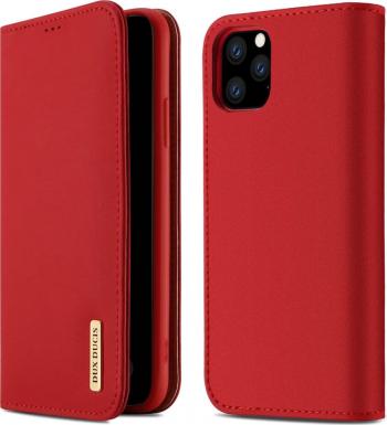 Husa iPhone 11 Pro Max Piele Naturala Flip  Book Stand si Buzunar Card DUX DUCIS Wish Rosu Huse Telefoane