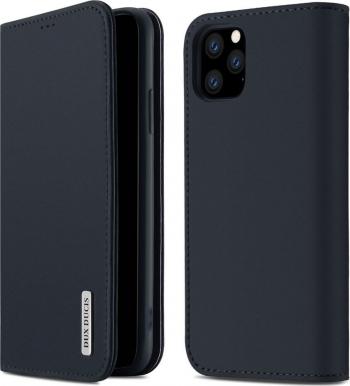 Husa iPhone 11 Pro Piele Naturala Flip  Book Stand si Buzunar Card DUX DUCIS Wish Albastru Huse Telefoane
