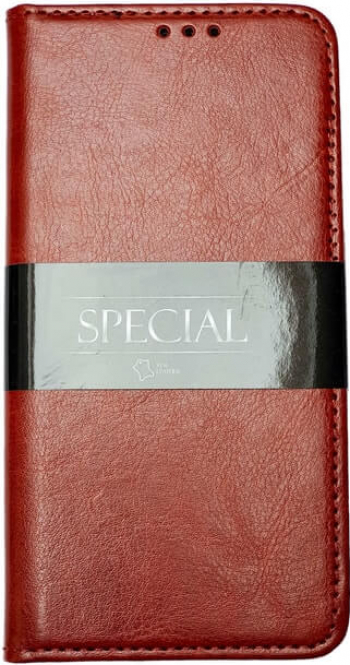 Husa iPhone 11 Pro Piele Naturala / Genuine Leather Flip / Book / Carte Buzunar Card si Functie Stand Maro Huse Telefoane