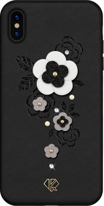 Husa iPhone XS Max Cristale Originale Swarovsky Kingxbar Petal Negru Huse Telefoane