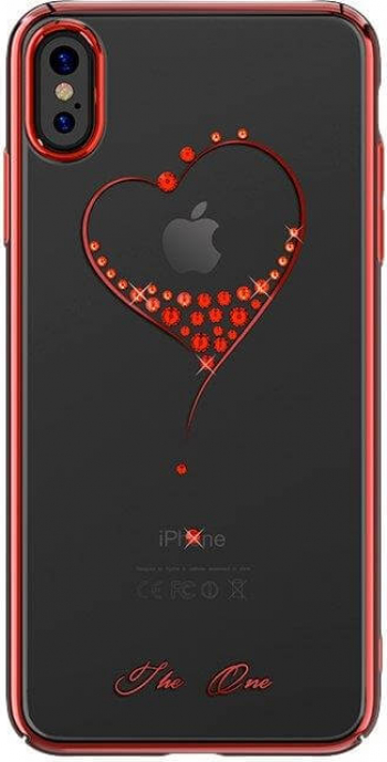 Husa Kingxbar decor Cristale Originale Swarovski - iPhone X Rosu Huse Telefoane