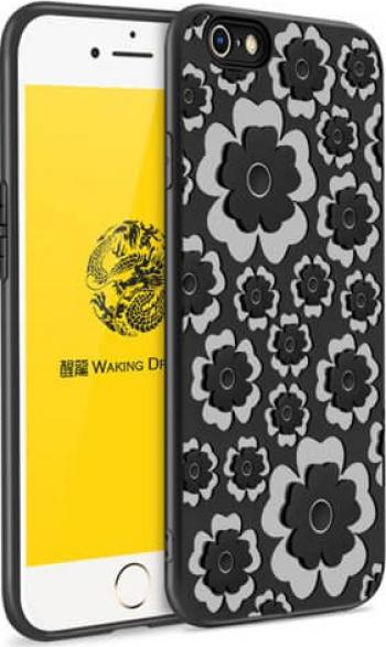 Husa MSVII Flower iPhone 7 / 8 Negru